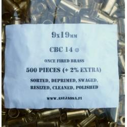 CBC military hylsy 9x19 500 kpl