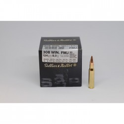 .308 Win, Sellier & Bellot, 9.7g (150gr) FMJ