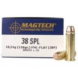 Magtech .38 Special 158gr SJSP-FLAT, 50kpl rasia