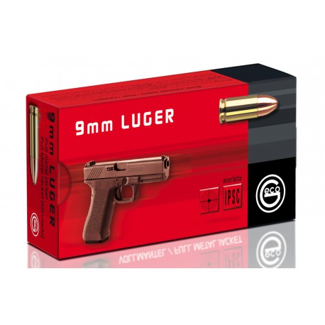 Geco 9mm 8g FMJ, 50ptr / rasia