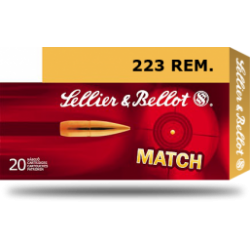 223 Rem, Sellier & Bellot Match, 4,5g (69gr) HPBT