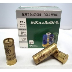 Sellier & Bellot Gold Medal Trap 12-70 24g 2,4mm 250 kpl erä