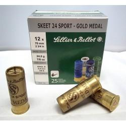 Sellier & Bellot Gold Medal Trap 12-70 24g 2,4mm 250 kpl erä