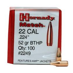 Hornady .224 52gr BTHP Match