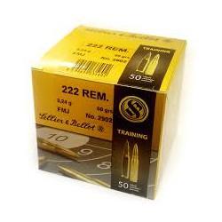 Sellier & Bellot .222 Rem 3.2 g / 50gr FMJ